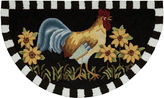 Nourison Black Rooster Hand-Hooked Wedge Rug