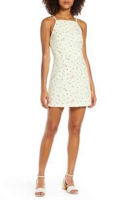 French Connection Floral Print Sleeveless Sheath Dress