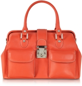 L.a.p.a. Deep Orange Leather Doctor Bag