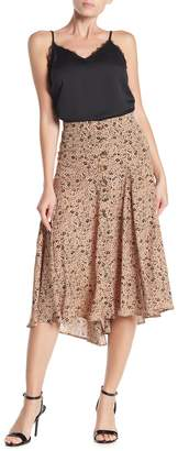 CODEXMODE Floral Bias Cut Midi Skirt