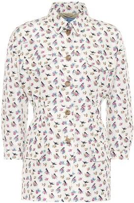 Prada Floral silk-twill jacket