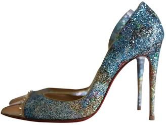 Christian Louboutin Iriza Blue Glitter Heels