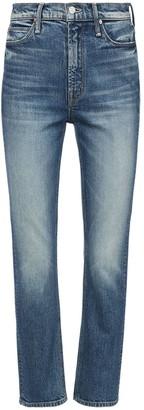 Mother The Dazzler Cotton Denim Straight Jeans
