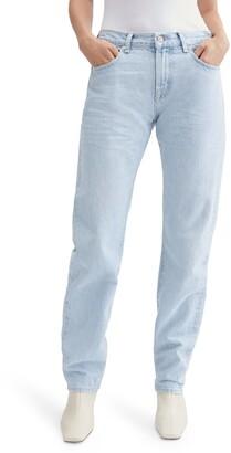 Seven London Rip & Repair Straight Leg Jeans