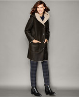 The Fur Vault Shearling Lamb Hooded Coat