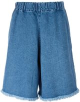 Marques Almeida Marques'almeida elasticated waist denim shorts