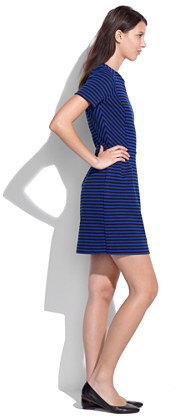 Madewell Gallerist Ponte Dress in Stripe