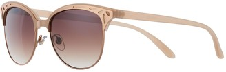 Apt. 9 Women's 54mm Rose Gold Tone Cat Eye Sunglases with Cutout Detail
