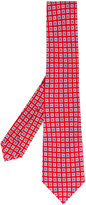 Kiton square flower spot tie