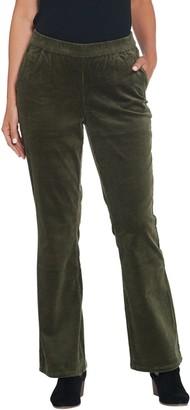 Denim & Co. Regular Stretch Corduroy Pull- On Lightly Bootcut Pants