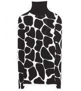 Burberry Animal print silk turtleneck sweater
