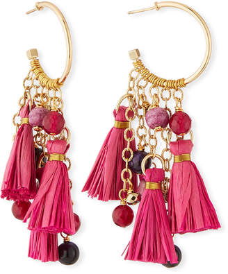 Akola Tassel & Cluster Hoop Earrings