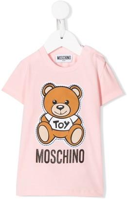 MOSCHINO BAMBINO Teddy Bear logo-print T-shirt