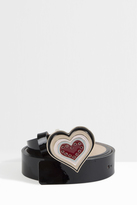 Paul & Joe Enamelled Heart Buckle Belt