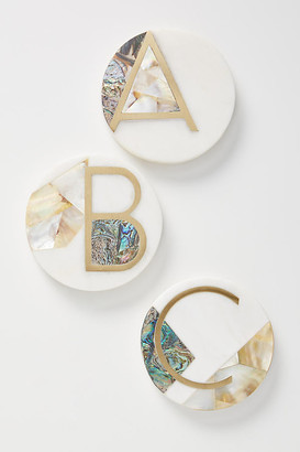 Anthropologie Marina Monogram Coaster By in Size A