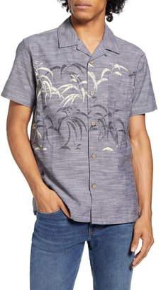 Hurley Sig Zane Kalaukoa Short Sleeve Button-Up Camp Shirt