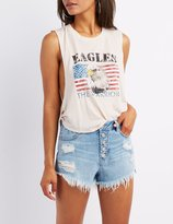 Charlotte Russe Eagles Graphic Muscle Tee