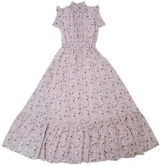 MelloDay Smocked Mock Neck Tiered Maxi Dress