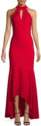 Laundry by Shelli Segal Sleeveless High-Low Gown