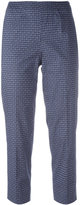 Piazza Sempione woven print cropped trousers - women - Cotton/Spandex/Elastane - 40