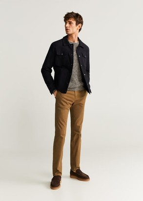 MANGO MAN - Slim fit chino premium pants grey - 26 - Men
