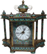 One Kings Lane Vintage Cloisonné Bronze Columned Clock