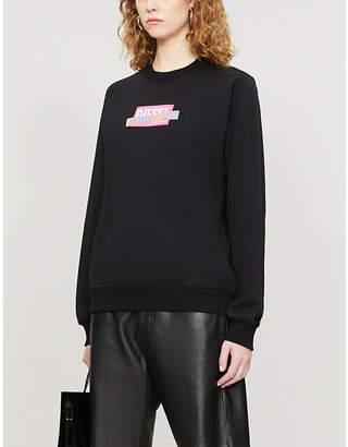 Diesel Logo-print cotton-jersey sweatshirt