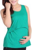 Womens Pregnant Vest, FTXJ Loose Maternity Clothes Nursing Tops Breastfeeding Blouse T-Shirt (Grey)