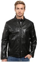 Andrew Marc Sedgwick Faux Leather Moto Jacket Men's Coat