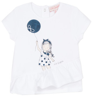 Lili Gaufrette NALIOS girls's T shirt in White