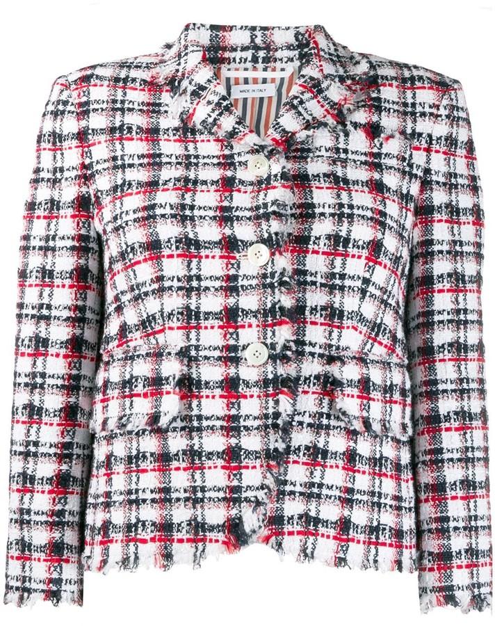 Thom Browne RWB tweed jacket