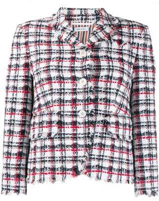 Thom Browne Plain Ribbon Tweed Sport Coat