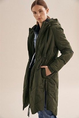 Country Road Longline Quilted Puffer