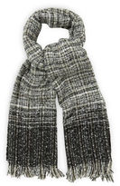 """Oasis OMBRE BOUCLE SCARF [span class=""""variation_color_heading""""]- Black and White[/span]"""