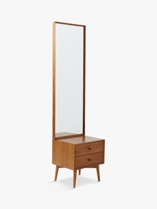 west elm Mid-Century Console Table and Mirror, FSC Certified (Eucalyptus), Acorn