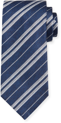 Brioni Men's Double-Stripe Silk Tie