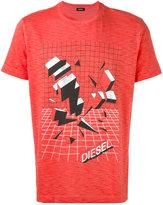 Diesel graphic logo T-shirt - men - Cotton - S
