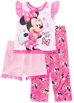 Minnie Mouse 3-Pc. Pajama Set, Toddler Girls (2T-5T)