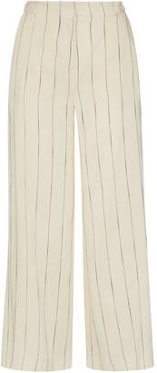 Nemozena Wide-Leg Cropped Detailed Pants