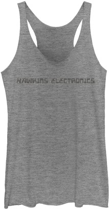 Licensed Character Juniors' Netflix Stranger Things Hawkins Electronics Logo Graphic Tank