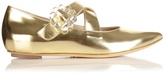 Simone Rocha Cross-strap leather flats