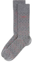 HUGO BOSS Polka Dot Combed Stretch Cotton Socks