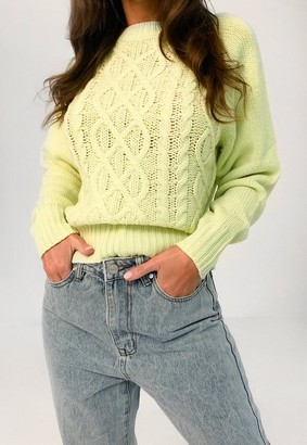 Missguided Cable Knit Round Neck Jumper
