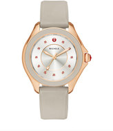 Michele Cape Topaz Watch w/Silicone Strap, Taupe