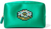 Anya Hindmarch Doughnut Crystal-Embellished Satin Cosmetic Case