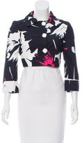 Roccobarocco Cropped Printed Jacket w/ Tags