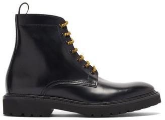 Paul Smith Farley Artist-stripe Leather Combat Boots - Black