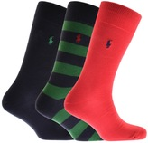 Ralph Lauren 3 Pack Socks Navy