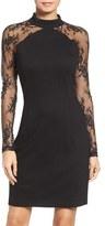 BB Dakota Women's Lace & Ponte Dress