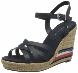 Tommy Hilfiger Women's Tommy Sequins High Wedge Sandal Open Toe